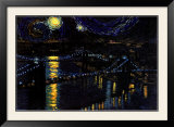Starry Night over the Brooklyn Bridge Prints by Nathan Mellot
