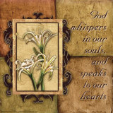 Tuscan 4 Patch: God Whispers Poster by Debbie DeWitt