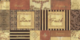 Natural Patchwork: Love and Faith Affiches par Debbie DeWitt