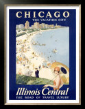 Chicago Illinois Central Train Prints