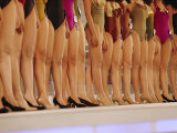 Stage-Level View of the Legs of Beauty Contestants in the Miss Thailand Competition Photographie par Jodi Cobb