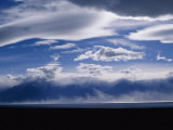 A View of a Dust Storm Brewing over Owens Lake Photographic Print by Marc Moritsch