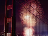 Golden Gate Bridge Celebration Marking the 50Th Anniversary of its Opening Photographic Print by Michael Nichols