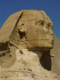 View of the Head of the Great Sphinx at Giza Photographic Print by Kenneth Garrett