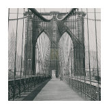 The Brooklyn Bridge, Sunday Am Plakat af The Chelsea Collection