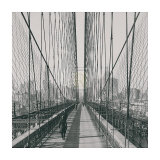 The Brooklyn Bridge, Sunday PM Prints