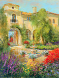 Spanish Courtyard II Prints by Michael Longo