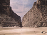 The Mouth of the Santa Elena Canyon of the Rio Grande in the Big Bend Area Photographic Print by Luis Marden