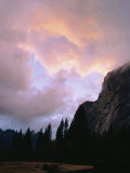 Twilight View of Clouds Above the Merced River Photographic Print by Marc Moritsch