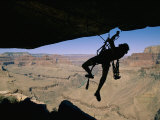 A Climber Uses Aid to Scale an Overhang on the South Rim Photographic Print by Bill Hatcher