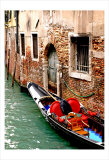 Gondola by a Brick Wall, Venice Poster by Igor Maloratsky