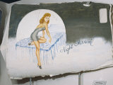 A View of a Painting That Once Decorated the Door of a World War Ii Bomber Photographie par Ira Block