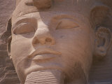 A Close View of the Carved Face of Ramses Ii Photographic Print by Stephen St. John