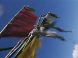 Prayer Flags are Ravaged by the Wind in the Nyele La Pass, Bhutan Photographic Print by Bobby Model