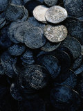 Ancient Coins from Shetland Islands Shipwreck Photographic Print by Bates Littlehales