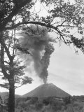 View of Ngauruhoe Volcano, Which Erupted in December 1934 Photographic Print by W. Robert Moore