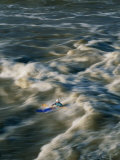 Kayaker Surfing Big Standing Wave on Potomac River Photographic Print by Skip Brown