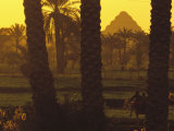 Scenic with Silhouette of Step Pyramid of Djoser Photographic Print by Kenneth Garrett