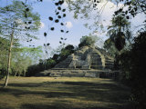 A Mayan Temple Ruin in Belize Photographic Print by Ed George