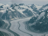 An Aerial View of Mendenhall Glacier Photographic Print by B. Anthony Stewart