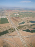 An Aerial View of a Highway System Near the Phoenix Airport Photographic Print by Rich Reid