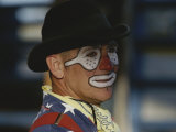 A Professional Rodeo Clown Waits for the Showto Begin Photographic Print by Bobby Model