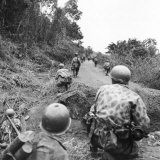 A View of French Troops Fighting in Vietnam in the 1950s Photographic Print by Joseph Baylor Roberts