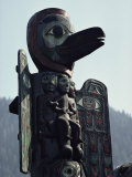 Tlingit Indian Totem Pole Photographic Print by George F. Mobley