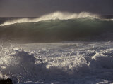 Surf Pounds a Beach in Hawaii Photographic Print by Marc Moritsch