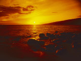 Sunset over the Ocean as Seen from a Maui Beach Photographic Print by Todd Gipstein
