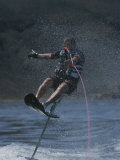 Riding High on an Air Chair While Water-Skiing Photographic Print by Phil Schermeister