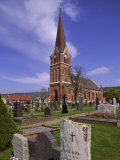 Church and Cemetery, Lillehammer, Norway Photographic Print by John Connell