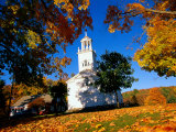 Church and Autumn Foliage, Otis, MA Photographic Print by Kindra Clineff
