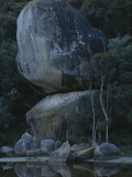 Huge Granite Boulders Encrusted in Lichens Photographic Print by Sam Abell