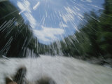 Water Sprays Splash Rafters on the Talkeetna Canyon Rapids Photographic Print by Rich Reid