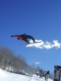 Snowboarder Being Videotaped, Vail, CO Photographic Print by Kurt Olesek