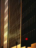 Red Traffic Light Outside City High-Rises Photographic Print by Karen Kasmauski