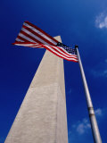 Washington Monument with the National Flag, Washington DC, USA Photographic Print by Gareth McCormack