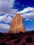 Courthouse Tower Natural Sandstone Edifice, Arches National Park, Utah, USA Photographic Print by Gareth McCormack