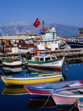 Fishing Boats in Harbour, Antalya, Antalya, Turkey Photographic Print by Diana Mayfield