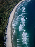 Aerial View of Victory Beach, New Zealand Photographic Print by David Wall