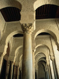 Arches Inside Great Mosque, Kairouan, Tunisia Photographic Print by Damien Simonis