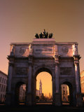 The Victory Gate Siegestor Built (1843-52)On Ludwigstrasse, Munich, Bavaria, Germany Photographic Print by Thomas Winz