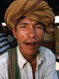 Portrait of Man, Looking at Camera, Myanmar (Burma) Photographic Print by Frank Carter