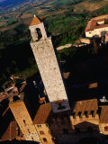 Tower Viewed from Torre Grossa San Gimignano, Tuscany, Italy Photographic Print by Glenn Beanland