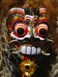 Mask of Mythological Creature, Ubud, Indonesia Fotografisk tryk af Paul Beinssen