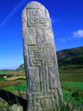 Historic Pillar with Geometric Design, Glencolumbcille, Ireland Photographic Print by Gareth McCormack