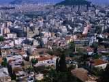 View of the City from the Top of the Acropolis, Athens, Attica, Greece Photographic Print by Jan Stromme