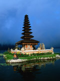 Ulun Danu Bratan in Lake Bratan, Indonesia Photographic Print by Paul Beinssen