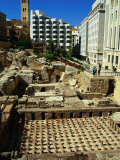 Roman Baths Uncovered During Excavations, Beirut, Lebanon Photographic Print by Bethune Carmichael